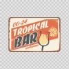 Vintage Tropical Bar Sign 13954