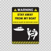 Warning Funny Stay Away From My Boat 14001