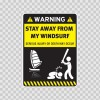 Warning Sign Funny Stay Away From My Wind Surf 14004