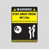 Warning Sign Funny Stay Away From My Cds 14009