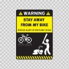 Warning Funny Stay Away From My Bike 14019