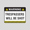 Warning Trespasser Sign 14045