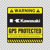 Gps Protected Prevention Sign Kawasaki 14074