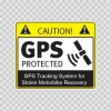 Gps Protected Security Prevention Stickers 14118