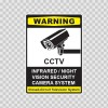 Cctv Infrared Night Vision Camera System Sign 14130