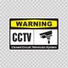 Warning Cctv Video Surveillance 14140