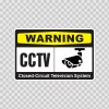 Warning Cctv Closed-Circuit Television System 14141