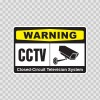 Warning Cctv Video Surveillance 14143