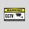 Warning Cctv Video Surveillance 14145