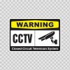 Warning Cctv Video Surveillance 14146