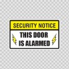 Security Notice This Door Is Alarmed 14155