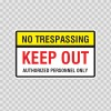 No Trespassing Keep Out Sign 14156