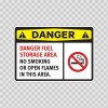 Danger Fuel Storage Area No Smoking  Or Open Flames In This Area 14201