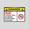 Danger Paint Storage Area No Smoking Or Open Flames In This Area 14211