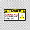 Danger Flammable Area Static Spark Could  Ignite Vapors 14220