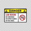Danger Lab Room No Smoking  Or Open Flames In This Area 14236