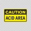 Caution Acid Area 14311