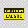 Caution Caustic 14312