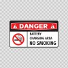 Danger Battery Charging Area No Smoking  14382