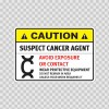 Caution Suspect Cancer Agent. Avoid Exposure Or Contact. Wear Protective Equipment. 14400
