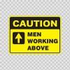 Caution Men Working Above 14429