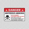 Danger Anhydrous Ammonia. Risk Of Blindness, Lung Damage, Burns And Death. Wear Ventless Goggle 14440