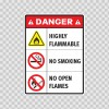 Danger Highly Flammable No Smoking No Open Flames 14444