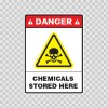 Danger Chemicals Stored Here 14446