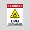 Danger Lpg Highly Flammable 14450