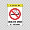 Caution Oxidizing Gases No Smoking 14492