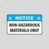Notice Non-Hazardous Materials Only 14496