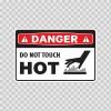 Danger Do Not Touch Hot 18658