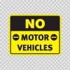 No Motor Vehicles 18719
