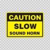 Caution Slow Sound Horn  18731