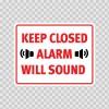 Keep Closed Alarm Will Sound  18759