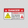 Danger Flammable Liquids. No Smoking Matches Or Open Lights. 19050