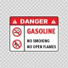 Danger Gasoline. No Smoking. No Open Flames. 19051