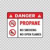 Danger Propane. No Smoking. No Open Flames. 19053