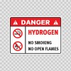 Danger Hydrogen. No Smoking. No Open Flames. 19055