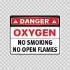 Danger Oxygen No Smoking No Open Flames 19087