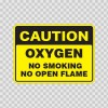Caution Oxygen No Smoking No Open Flame 19097
