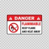 Danger Flammable. Keep Flame And Heat Away 19110