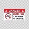 Danger Diesel Fuel. Flammable No Smoking 19111