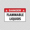 Danger Flammable Liquids 19120