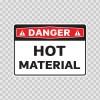 Danger Hot Material 19389