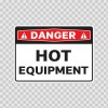 Danger Hot Equipment 19390