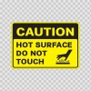Caution Hot Surface Do Not Touch 19396
