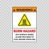 Warning Burn Hazard. Hot Surface Inside. Allow This Area To Cool Before Servicing. 19409