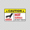 Caution Hot Surface Do Not Touch 19421