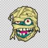 Mummy Zombie Monster Head Cartoon 22519
